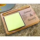 Personalized You and I Wooden Notepad & Pen Holder