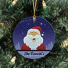 Personalized Ceramic Santa Ornament