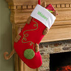 Love My Kitty Embroidered Cat Stocking