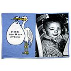 Personalized Stork Baby Throw