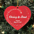 Personalized Ceramic Heart Engagement Ornament