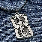 Personalized Cheerleader Sports Medal