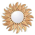 Sunflower Gilded Wood Metallic Mirror