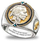 Men's 1938 Indian Head Nickel Ring