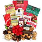 Holiday Caramel Popcorn and Dark Chocolate Gift Basket