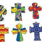 24 Unpainted Cross Suncatchers