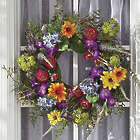 Classic Summer Bright Faux Florals Wreath