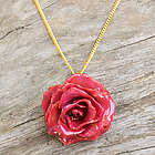 Sweet Pink Natural Flower Necklace