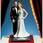 Hollywood Glamour Couple Stars for a Day Cake Topper