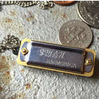Mini Playable Harmonica Necklace