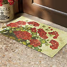 Geranium Basket Floral Door Mat