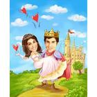 The Knight and the Princess Caricature Print from Photos