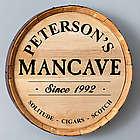 Man Cave Whiskey Barrel Sign