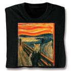 Cat on a Sunset Bridge Art T-Shirt