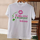 Personalized Kiss Me I'm Irish T-Shirt