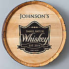 Black Small Batch Whiskey Barrel Sign