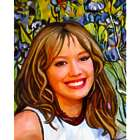 Hilary Duff Oil Painting Giclee Art Print
