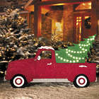 Lighted Truck with Christmas Tree Lawn Decoration