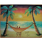 Personalized Beach Sunset Canvas Art Print