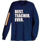 Best Teacher Ever Long Sleeve Shirt