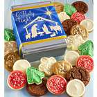 Christmas Cookies in Nativity Scene Gift Tin