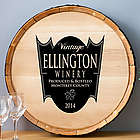 Family Crest Wood Wine Barrel Sign
