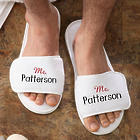 Mr. and Mrs. Embroidered Mr Terry Spa Slippers