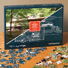 Frank Lloyd Wright Fallingwater Double Sided Puzzle