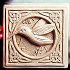 Celtic Hummingbird Stone Plaque