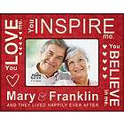 Love Inspire Believe Personalized Picture Frame