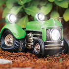 Vintage Green Tractor Solar Lights