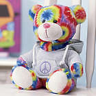Tie Dyed Peace Bear with Hoodie