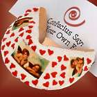 Personalized Cherubs and Hearts Giant Valentine's Fortune Cookie