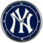 New York Yankees Chrome Plated Clock