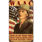 WAAC Metal Sign