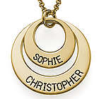 Personalized Gold-Plated Disc Necklace for Mom