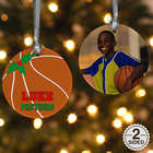 2 Sided Basketball Personalized Photo Ornament
