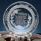 The Miracle of Friendship Clear Glass Plate with Stand