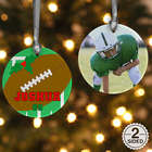 Personalized 2 Sided Football Photo Ornament