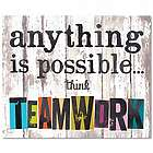 Think Teamwork Inspirational Art Print