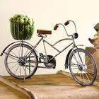Handcrafted Bicycle Sculpture with Planter