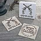 Wild West Stone Coasters