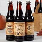 Vintage Halloween Personalized Beer Bottle Labels