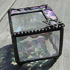 Stained Glass Keepsake Box with Leaded Star