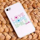 White Trimmed Personalized iPhone Case