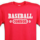 Baseball Fan Personalized Sports T-Shirt