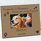 Pawprints in Heaven Personalized Pet Memorial Picture Frame