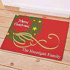 Personalized Christmas Wreath Doormat