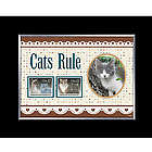 Cats Rule Photo Frame with US Postage Stamps