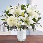 Large Pure Elegance Bouquet in White Mosaic Vase